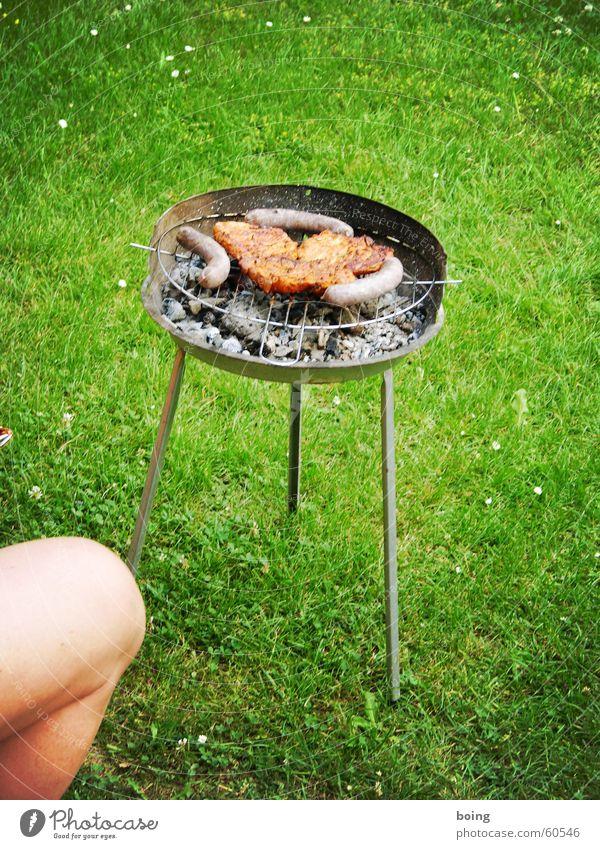 ich wünsch dir ein schönes Wochenende Sommer Freude Wiese Garten Park Beine warten Freizeit & Hobby Grillen Fleisch Wurstwaren Kochen & Garen & Backen Knie