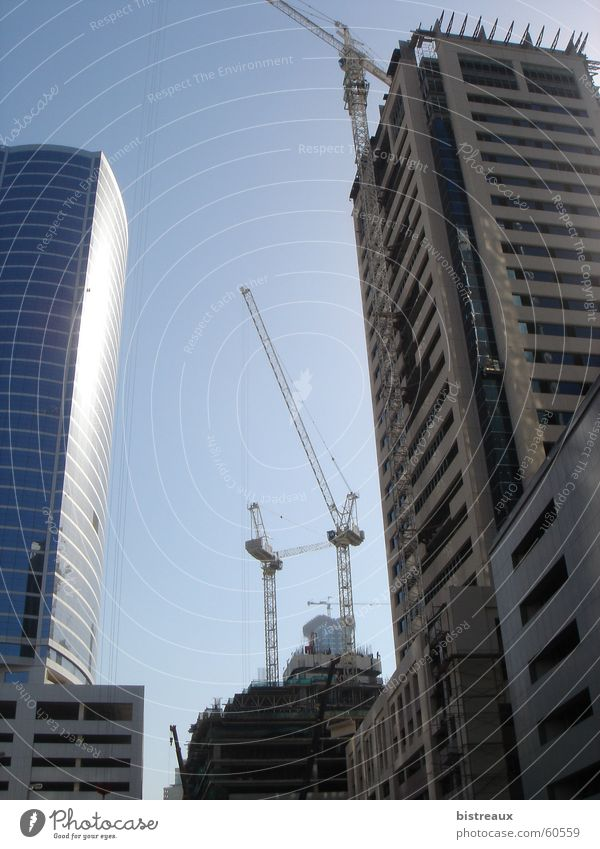 Dubai Media City Hochhaus Media City Dubai Baustelle Naher und Mittlerer Osten Ausland Außenaufnahme Wüste