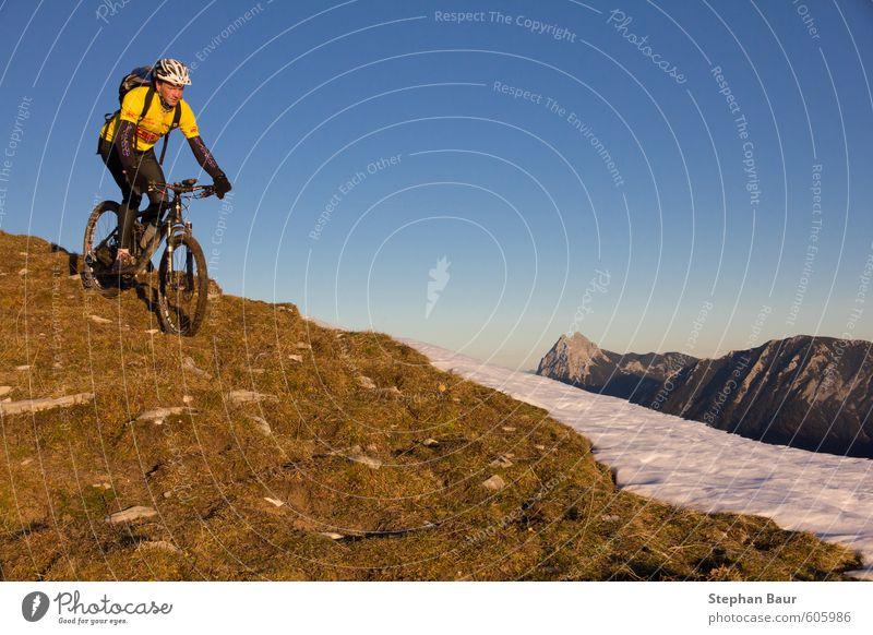 Mountainbiken Juifen Freizeit & Hobby Tourismus Berge u. Gebirge Sport Klettern Bergsteigen wandern Fahrrad Natur Landschaft Herbst Schönes Wetter Hügel Felsen