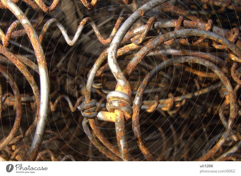 bettfedern Bettgestell Draht obskur Rost Makroaufnahme Metall