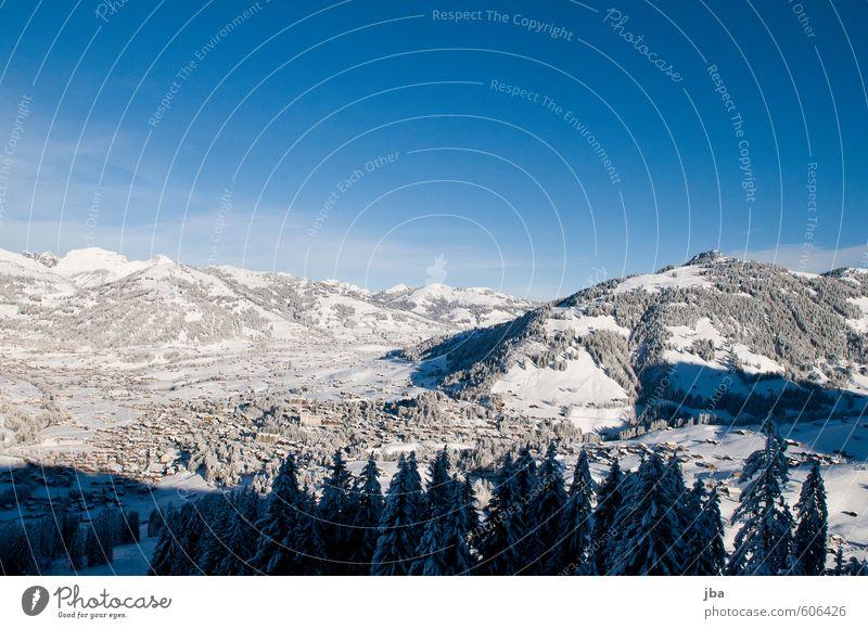 Gstaad Leben Erholung Winter Schnee Winterurlaub Berge u. Gebirge Skigebiet Natur Landschaft Luft Himmel Schönes Wetter Wald Alpen Gipfel Schweiz Dorf