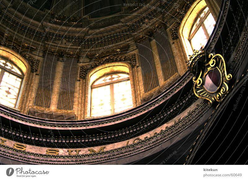 The DaVinci Hype Malta Kuppeldach Fenster Licht Wappen Religion & Glaube Kunst Kathedrale gold Latein Schriftzeichen Architektur Innenaufnahme Detailaufnahme