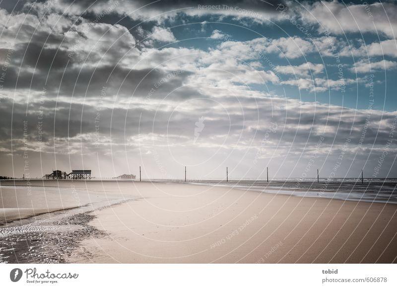 Tag am Meer No.3 Ferien & Urlaub & Reisen Ausflug Ferne Freiheit Sommer Sonne Landschaft Sand Wasser Himmel Wolken Horizont Sonnenlicht Schönes Wetter Wellen