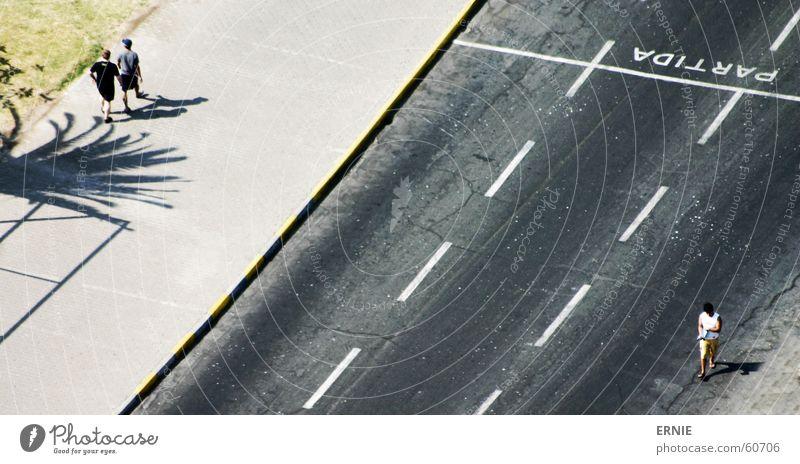 de Strooß Chile Ferien & Urlaub & Reisen Castillo del Morro Arica Palme gehen Mensch Asphalt Bürgersteig Straße Fuß Linie Schilder & Markierungen