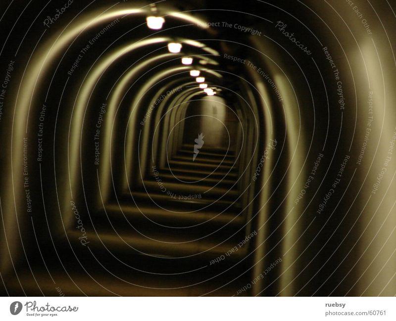 Tunnel Licht lang Angst Schatten Gang