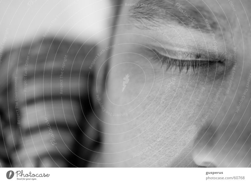 daydreamer Erholung träumen gehen Erde ruhig schlafen ruhen Mann Augenbraue Makroaufnahme Graffiti Gesicht Detailaufnahme relaxation wane own world quietness