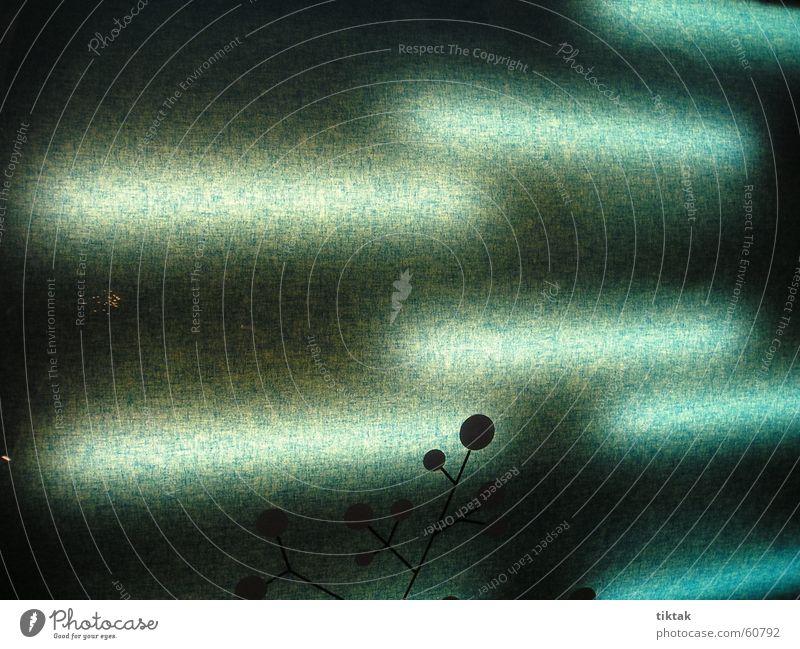 Schattenblume grün blau Lampe kalt Beleuchtung Hintergrundbild Punkt Stoff Neonlicht diffus