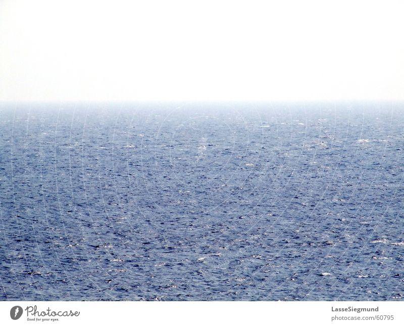 Horizont Wasser Himmel Meer blau Strand Ferne Wellen Küste Nebel Horizont Schifffahrt Nordsee