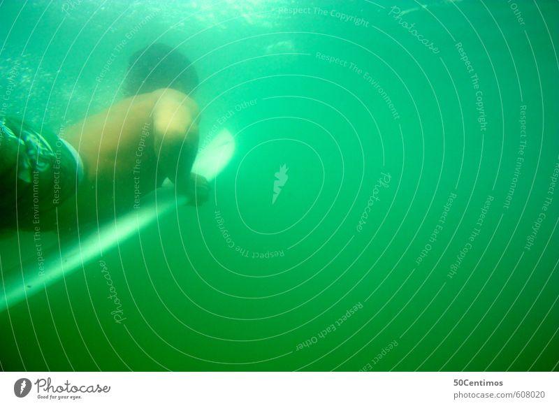 Duckdive - Mit dem Surfbrett unter Wasser Mensch Kind Natur Jugendliche Ferien & Urlaub & Reisen Sommer Meer 18-30 Jahre Strand Junger Mann Erwachsene Sport