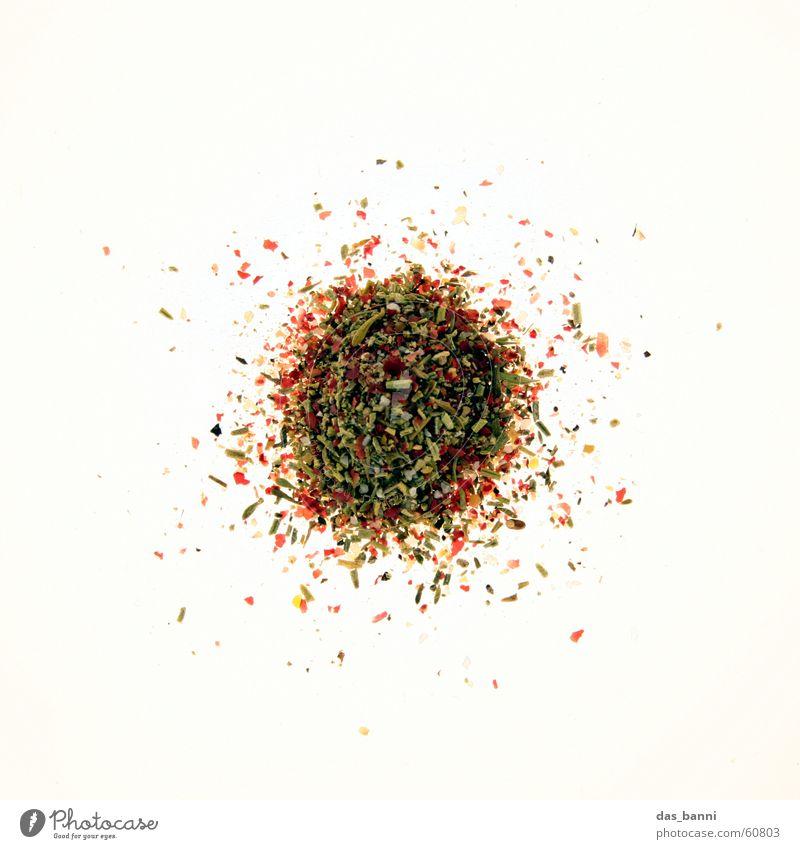 rundung #5 Gewürzpfeffer gemahlen Mischung mehrfarbig Kräuter & Gewürze dunkel weiß schwarz braun Licht Ernährung Reihe grün rot Leuchttisch Haufen verteilt