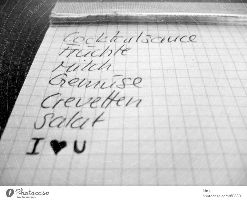 Verliebter Einkaufzettel Liebe Zettel Anordnung