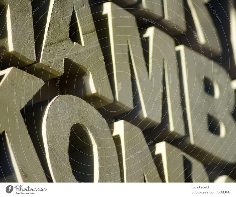amb. Kunst Kultur Dekoration & Verzierung Sammlung Kunststoff Schriftzeichen groß nerdig schön authentisch Interesse Design Kreativität Mobilität Perspektive