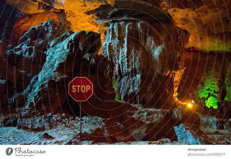 Vorfahrt gewähren   Hang Sung Sot Natur Ferien & Urlaub & Reisen Sommer Meer Ferne Berge u. Gebirge Küste leuchten Tourismus Klima Insel Ausflug Urelemente
