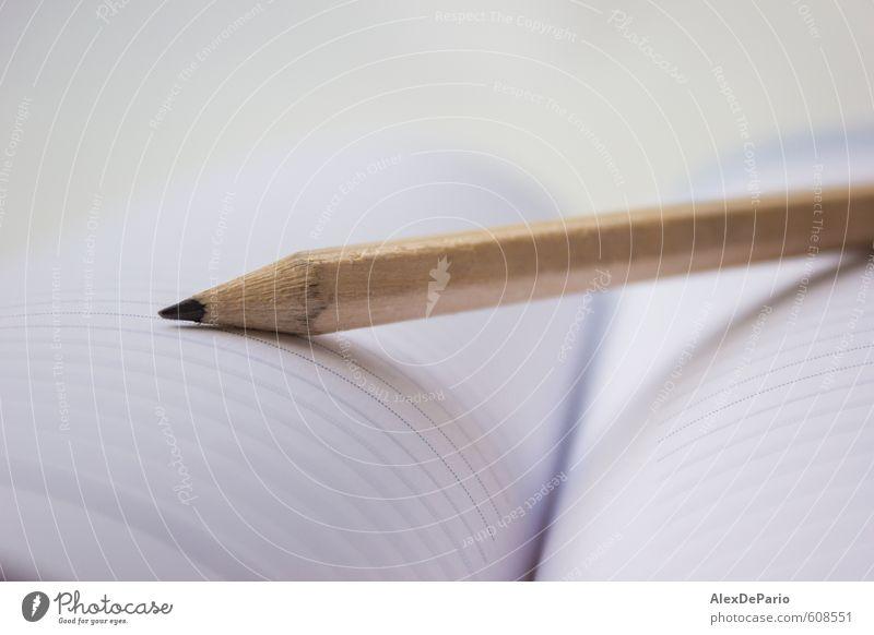 Bleistift auf einem Buch Design Bildung Schule lernen Schüler Lehrer Berufsausbildung Student Hochschullehrer Arbeit & Erwerbstätigkeit Arbeitsplatz Büro
