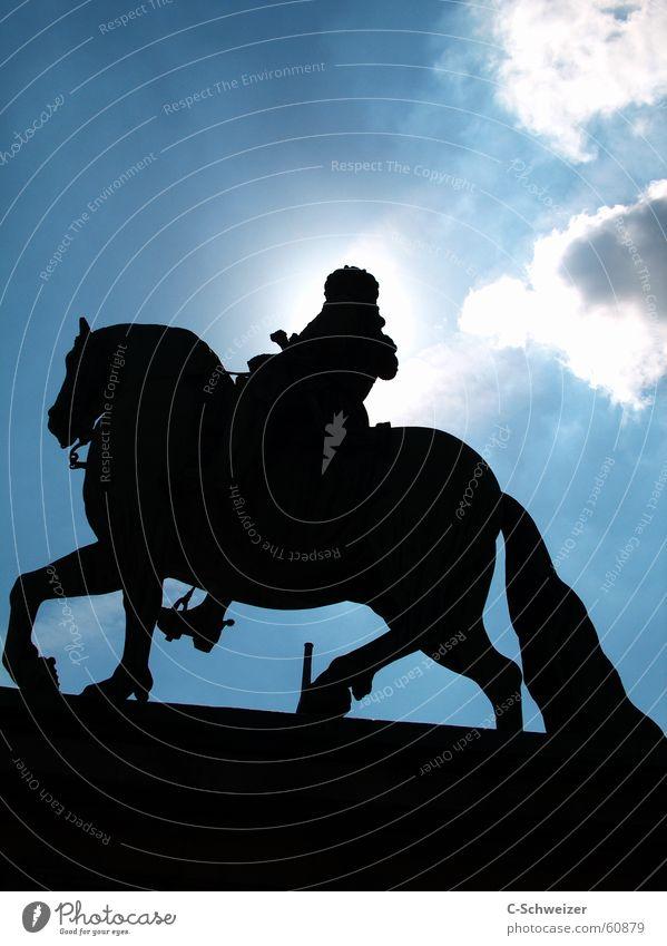Jan Wellem Himmel Sonne Pferd Statue Denkmal Düsseldorf Reiter Mittag Jan-Wellem-Reiterdenkmal