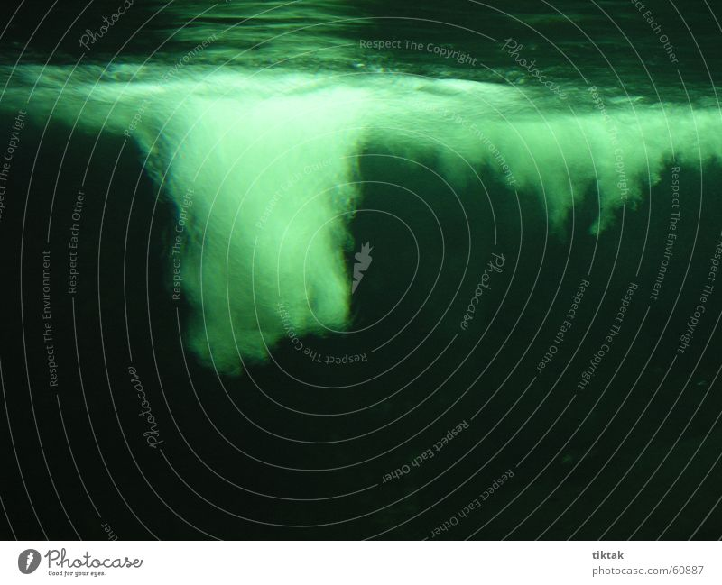 Im Rausch der Tiefe Wasser Meer grün Luft tauchen geheimnisvoll Aquarium Luftblase mystisch unheimlich Sauerstoff