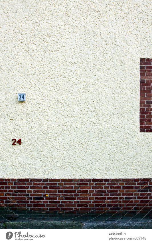 2424 Haus Wohnhaus Fassade Wand Ziffern & Zahlen Hausnummer Adressat 18-30 Jahre Weihnachten & Advent Termin & Datum Backstein Sims Fenstersims rauhputz