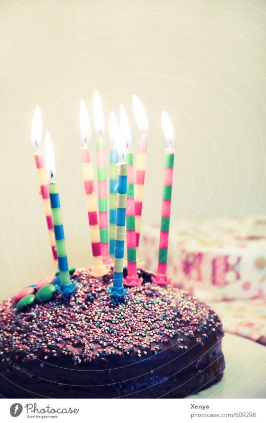 Happy Birthday Freude Feste & Feiern Party Geburtstag Fröhlichkeit genießen Kochen & Garen & Backen Geschenk Kerze Frühstück Kuchen Überraschung Glückwünsche