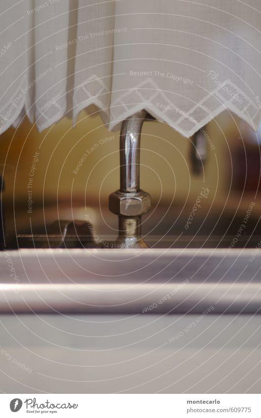 Verfallsdatum überschritten | Ausgemustert Wohnmobil Gardine Wasserhahn Fenster Metall Kunststoff alt dünn authentisch einfach einzigartig Originalität retro