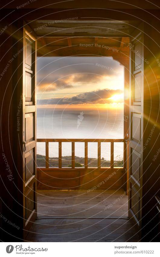einleuchtend Ferien & Urlaub & Reisen alt Himmel (Jenseits) Meer Erholung ruhig Tod Holz Freiheit Glück Religion & Glaube Horizont Stimmung träumen Insel