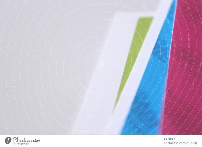 Papierablage II blau grün weiß Farbe grau hell Kunst liegen rosa Business Wohnung Büro Design Erfolg ästhetisch Coolness