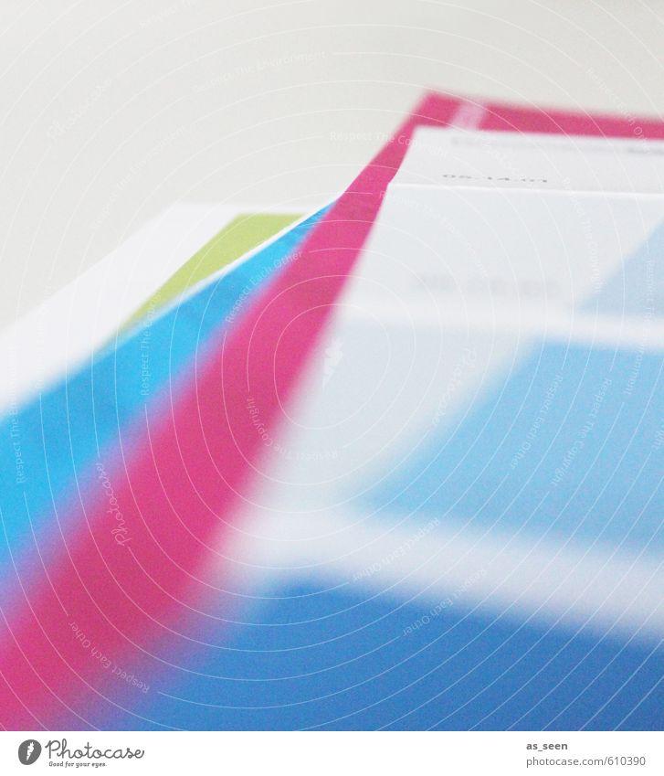 Papierablage blau grün weiß Farbe ruhig hell Kunst rosa Business Büro Design Erfolg modern ästhetisch Fröhlichkeit Coolness