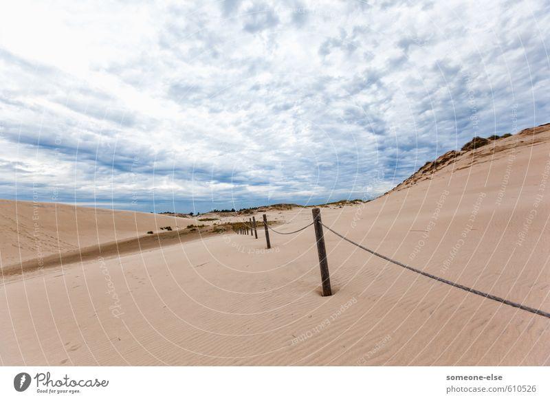 Wanderdünen Ferien & Urlaub & Reisen Tourismus Ausflug Abenteuer Sommer Strand Dünen Meer Sand Landschaft Ostsee Słowiński Park Narodowy