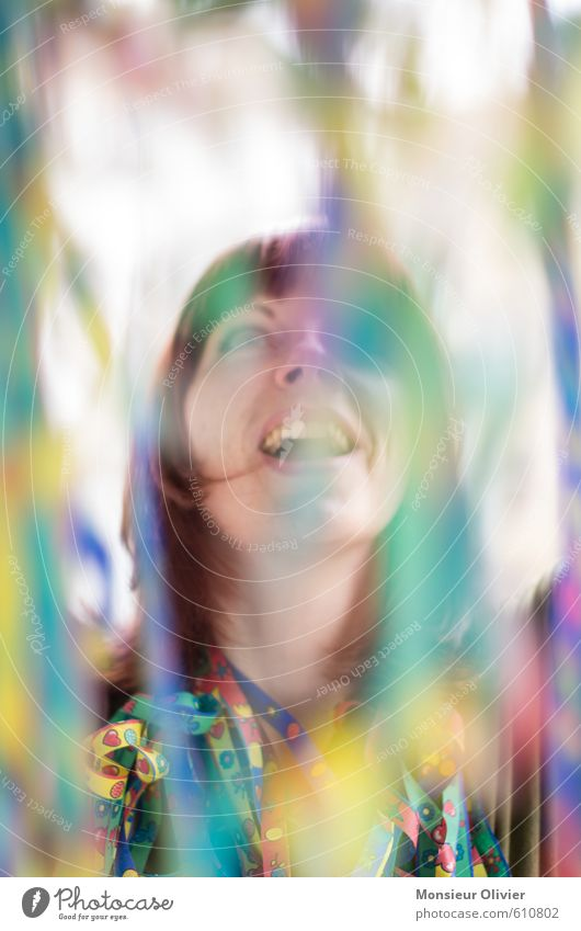 Luftnummer 2 Mensch Jugendliche Junge Frau Freude Gefühle feminin Glück Feste & Feiern Kopf Party Zufriedenheit Lifestyle Fröhlichkeit Lebensfreude Karneval rothaarig