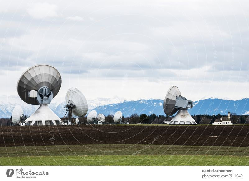ich höre was was du nicht hörst Technik & Technologie Zukunft bedrohlich Telekommunikation hören bizarr Informationstechnologie Politik & Staat Fortschritt High-Tech Raumfahrt