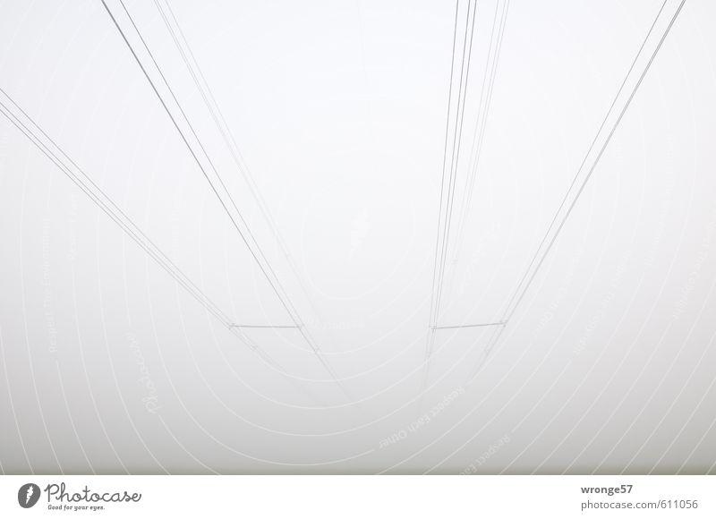 Grauzone Himmel Winter grau Luft Nebel Energiewirtschaft Wassertropfen Elektrizität Verbindung Hochspannungsleitung Erneuerbare Energie Nebelwand Nebelstimmung