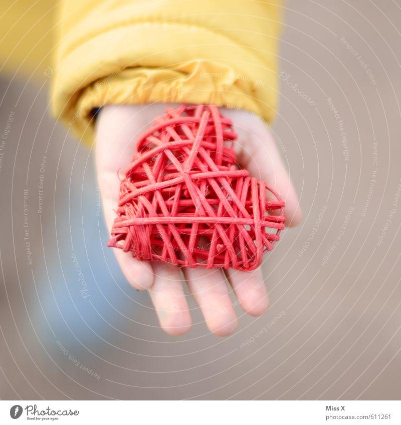 von Herzen Mensch Kind Hand rot Gefühle Liebe Stimmung Freundschaft Kindheit Geschenk Romantik Verliebtheit Kleinkind Valentinstag schenken