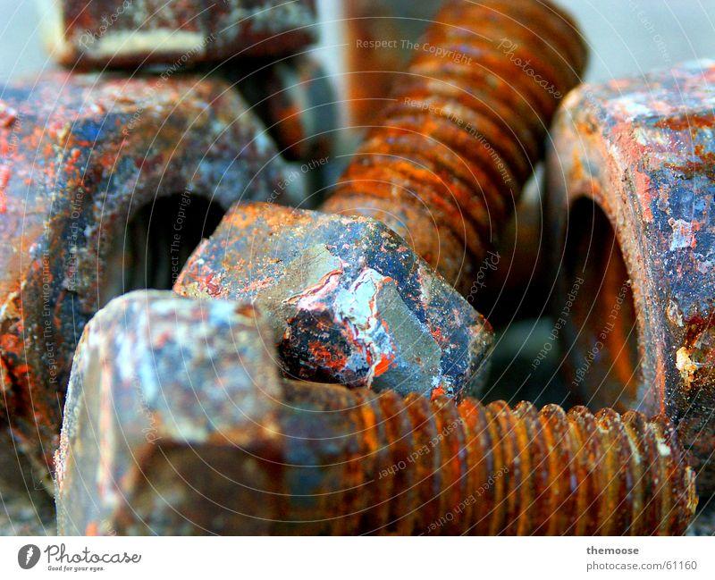 still-life with screw alt Rost Schraube Rust