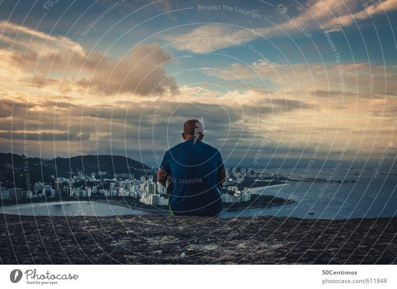 Sonnenuntergang in den Bergen von Rio de Janeiro Wohlgefühl Zufriedenheit Erholung ruhig Ferien & Urlaub & Reisen Tourismus Abenteuer Ferne Freiheit Sightseeing