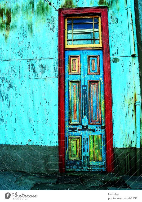 Valparaiso Tür alt Straße Farbe Tür Chile Cross Processing Valparaíso