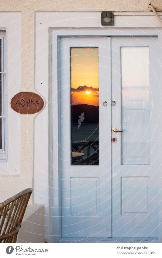 Lass die Sonne rein Ferien & Urlaub & Reisen Sommer Meer Fenster Berge u. Gebirge Küste Holz Fassade Tür Schönes Wetter Balkon Sommerurlaub Terrasse
