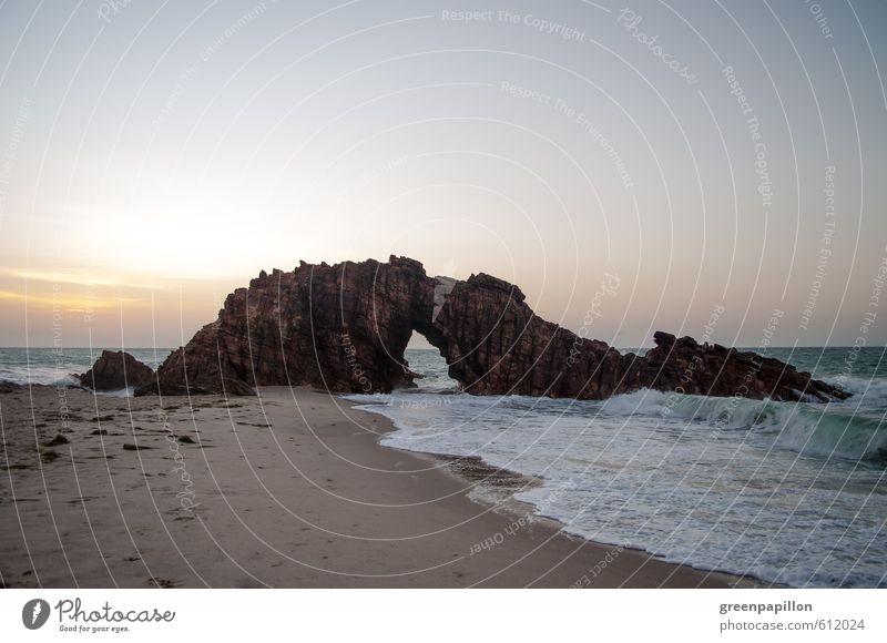 Jericoacoara - Brasilien - Pedra furada Schwimmen & Baden Reiten Surfen Surfbrett Windsurfing Umwelt Natur Landschaft Urelemente Sand Wasser Sonnenaufgang