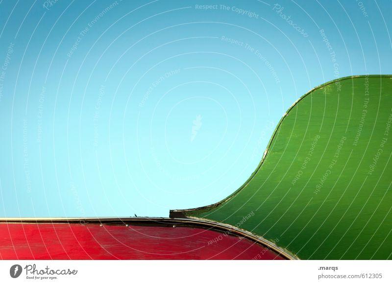 Gerundet blau grün Farbe rot Stil Holz Linie Hintergrundbild Metall Design ästhetisch einfach einzigartig Wolkenloser Himmel