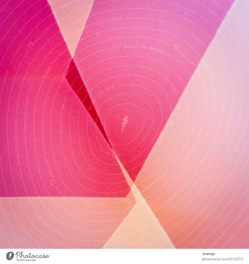 Pinky Lifestyle elegant Stil Design Mauer Wand Linie eckig trendy einzigartig modern neu rosa Farbe Perspektive Präzision Surrealismus Hintergrundbild