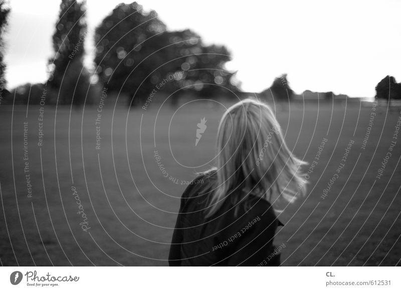 parklife Mensch feminin Junge Frau Jugendliche Erwachsene Haare & Frisuren 1 18-30 Jahre 30-45 Jahre Landschaft Baum Park Wiese Gefühle Freude Lebensfreude