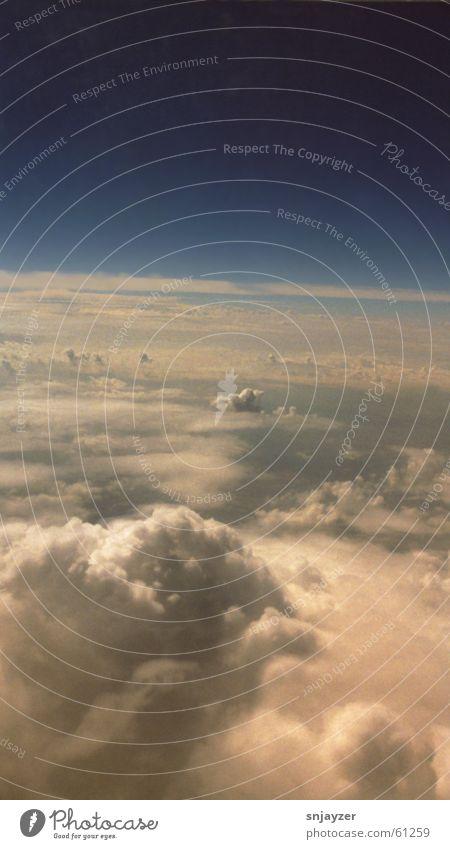 Über den Wolken Himmel Freiheit Horizont Luftverkehr