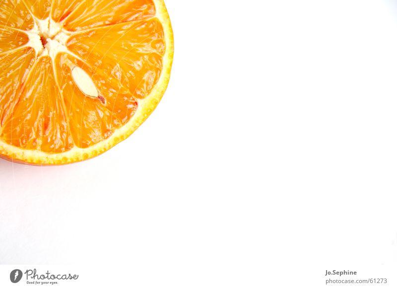Kernspalterei III Sommer Gesundheit orange Frucht Lebensmittel Orange frisch Ernährung rund Wellness Teile u. Stücke Teilung Diät Kerne Fruchtfleisch
