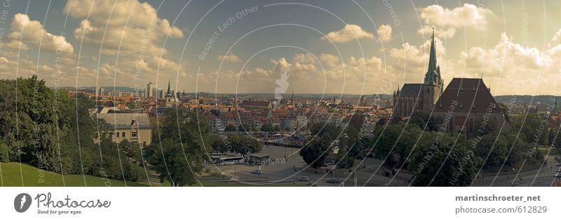 Erfurt - Petersbergpanorama Design Erholung Tourismus Sightseeing Städtereise Sommer Sonne Architektur Thüringen Stadt Hauptstadt Stadtzentrum Altstadt Kirche