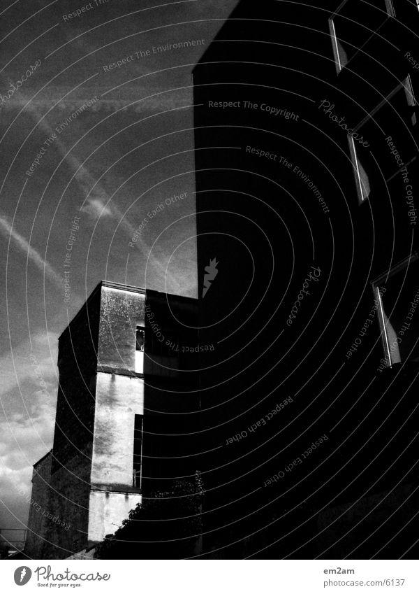 two who cuts one Haus Gebäude Architektur Teilung