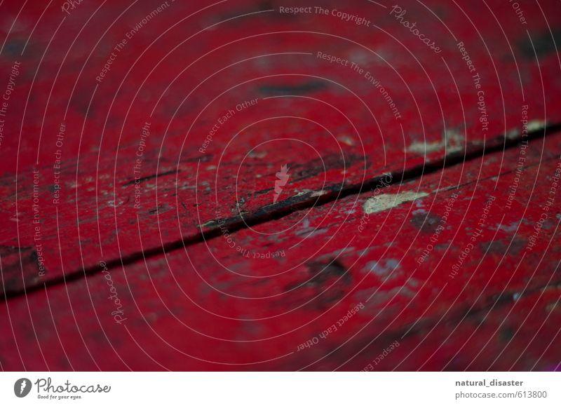 rote Holzlatten alt Stadt Einsamkeit ruhig schwarz Leben Senior braun Kunst Design Tisch berühren Abenteuer einzigartig