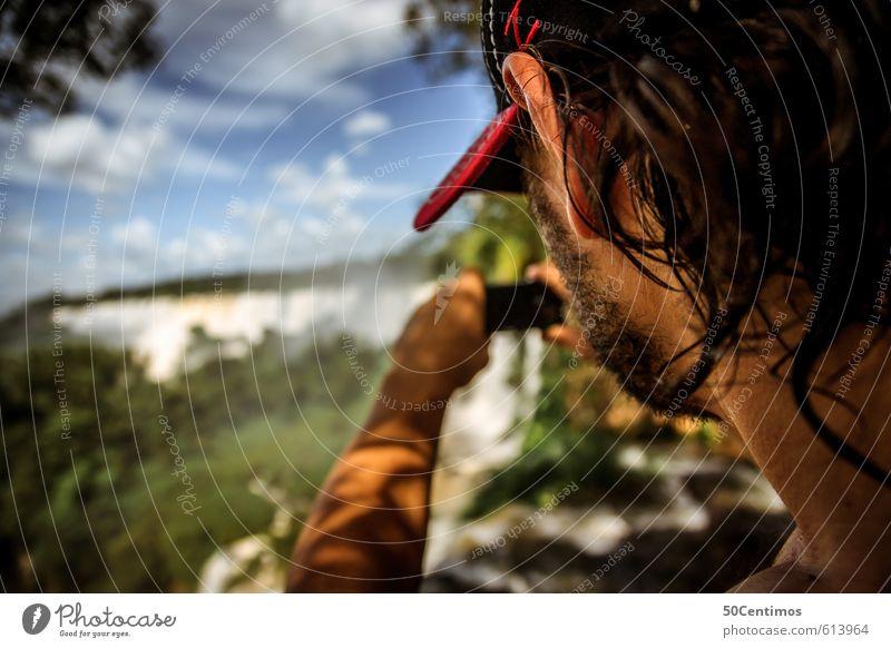 Take a photo - Naturaufnahme Mensch Jugendliche Ferien & Urlaub & Reisen Mann Landschaft 18-30 Jahre Tier Ferne Erwachsene Umwelt Berge u. Gebirge Freiheit