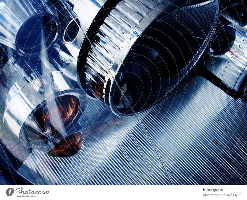 Groundcontrol To Major Tom blau PKW Glas KFZ Technik & Technologie silber Scheinwerfer UFO Chrom Angelköder Reflektor