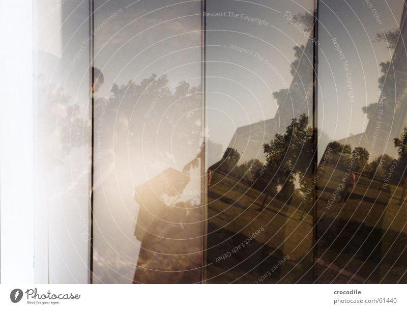 doppelt hält besser Mensch Himmel Baum Sonne Pflanze Haus Wiese Doppelbelichtung Lomografie