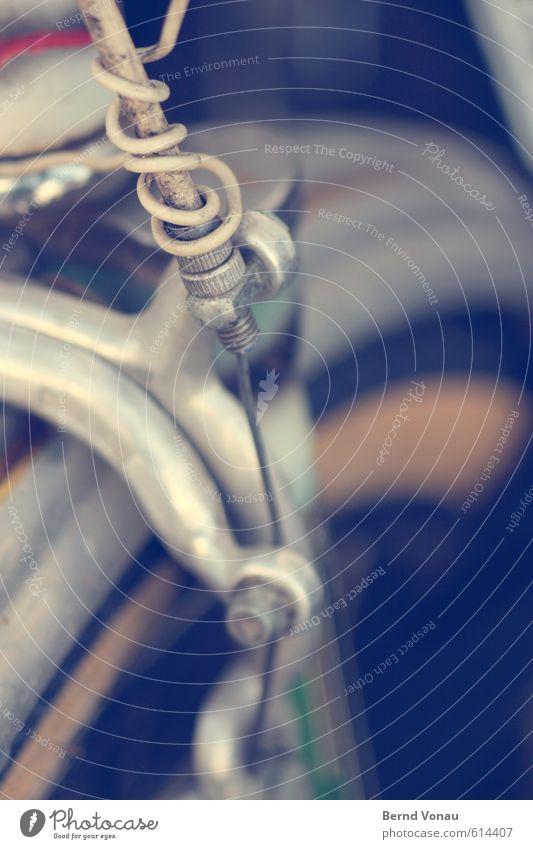 Backenkneifer Verkehrsmittel Fahrradfahren alt dunkel trashig braun schwarz weiß Stahlkabel Kabel Schraubenmutter einstellen Fahrradbremse Aluminium Reifen