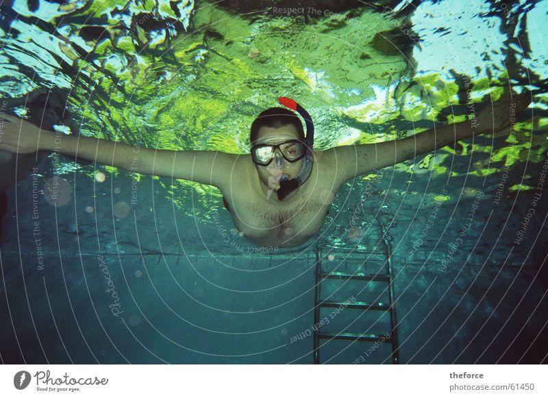 Ich Tauche! Wasser Schwimmbad tauchen Schnorcheln