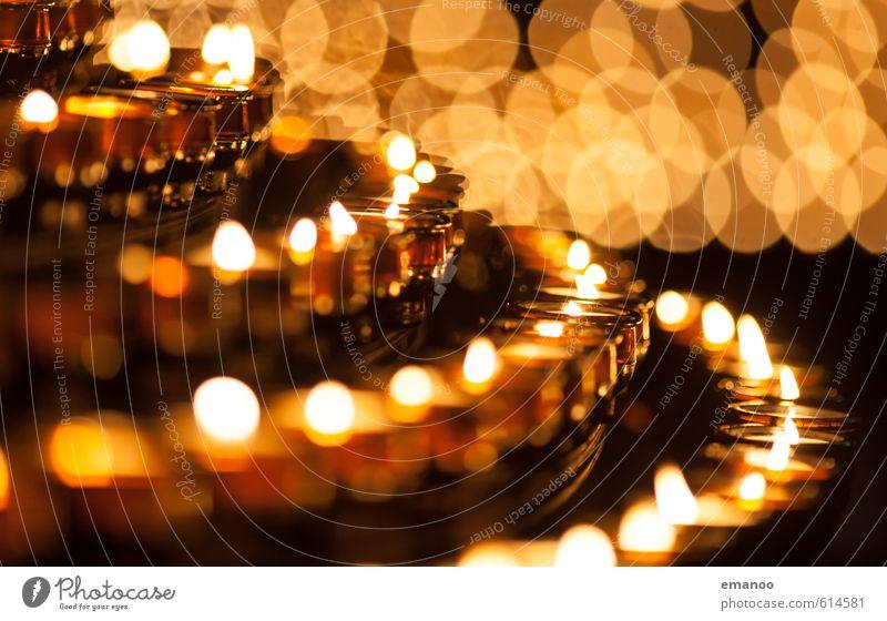 Lichtbogen Wohlgefühl Sinnesorgane Erholung ruhig Duft Häusliches Leben Wohnung Kunst Ausstellung Kirche Dekoration & Verzierung Kerze Zeichen leuchten dunkel